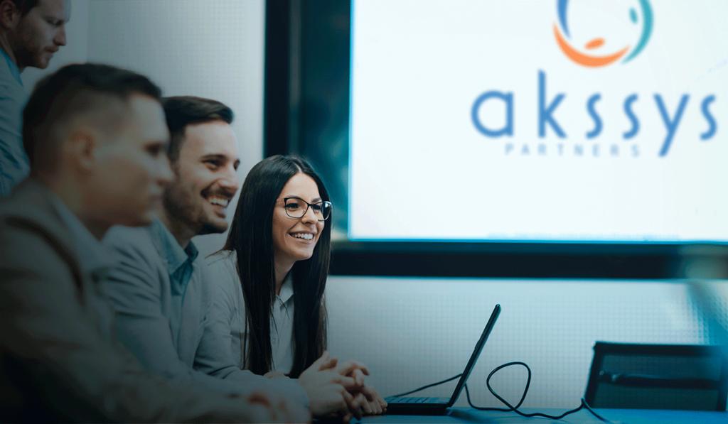 visuel de la présentation powerpoint d'Akssys Partners, réalisée par Laurent Agier, agence de communication à Toulon