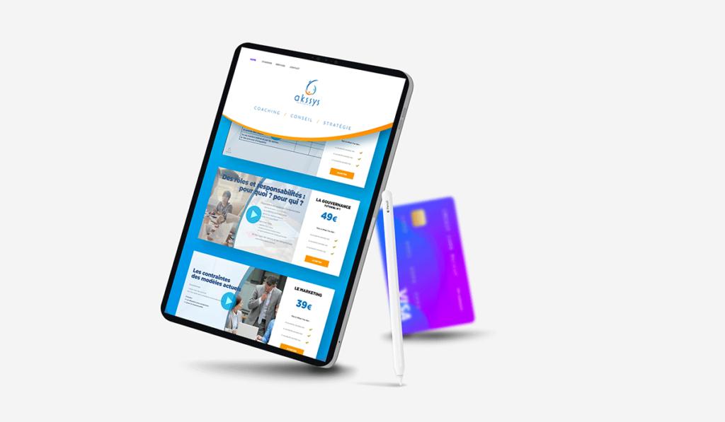 visuel d'entête de la création d'une plateforme de vente en ligne pour Akssys Partners réalisée par Laurent Agier, agence de communication sur Toulon