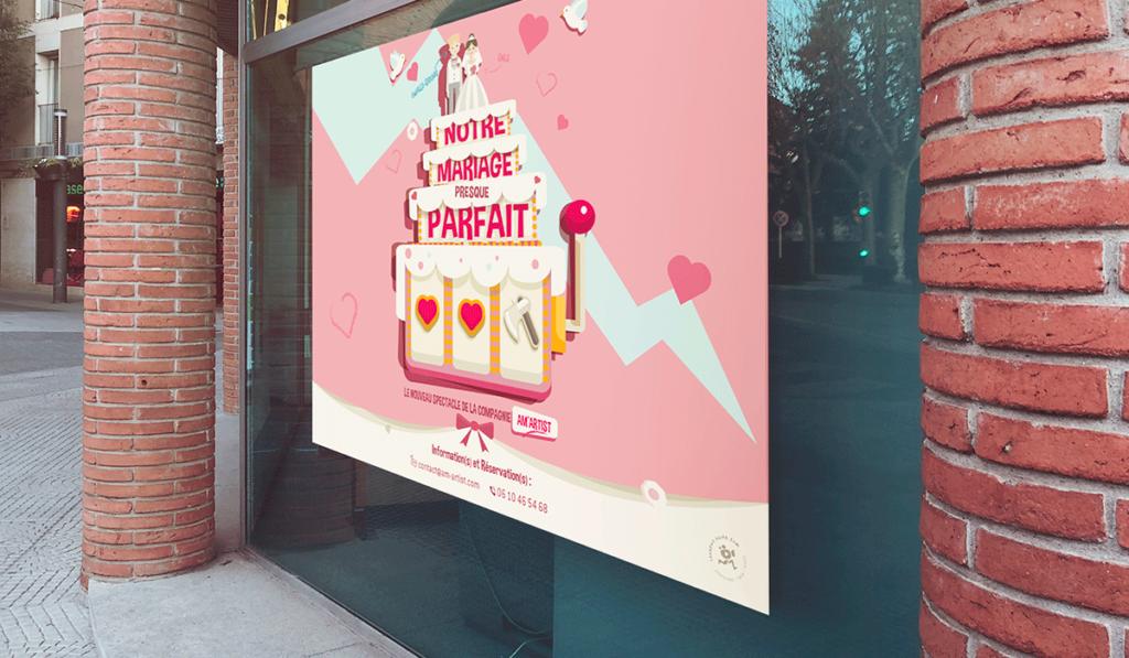 visuel d'entête pour la création de l'affiche de spectacle d'Am Artist, réalisée par Laurent Agier, agence de communication à Toulon