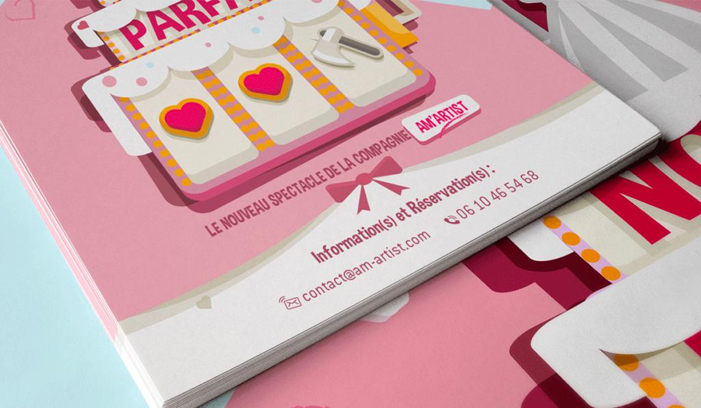 visuel d'entête pour création de l'affiche du spectacle d'Am Artist, réalisée par Laurent Agier, agence de communication à Toulon