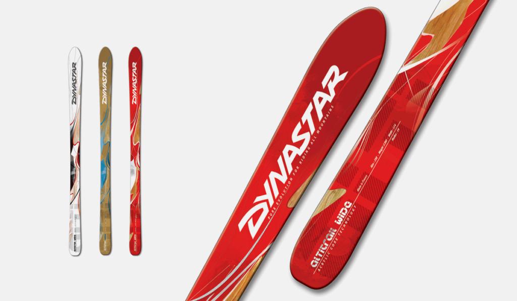 visuel de l'habillage graphique des skis Altitrail Wide de Dynastar, réalisé par Laurent Agier, en agence de communication