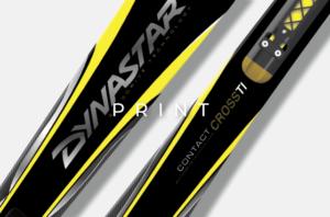 image mise en avant pour l'habillage graphique de skis Dynastar, réalisé par Laurent Agier, en agence de communication