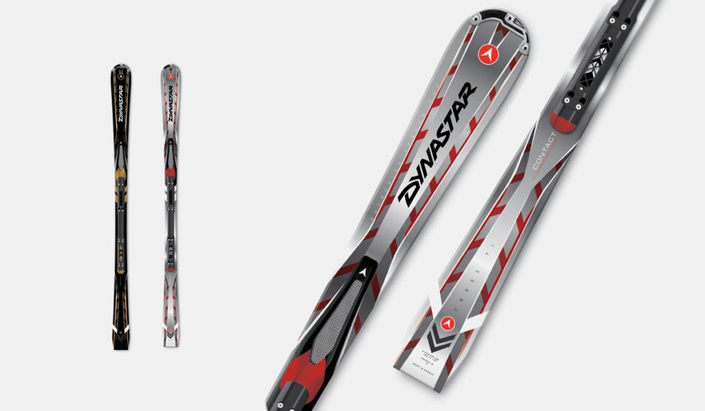 visuel pour l'habillage graphique des skis Cross TI de Dynastar, réalisé par Laurent Agier, en agence de communication
