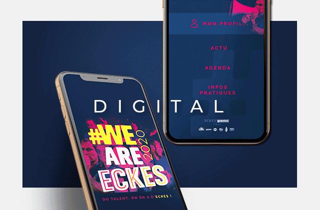 image mise en avant pour la création du site internet de la marque We Are Eckes, réalisée par Laurent Agier, en agence de communication