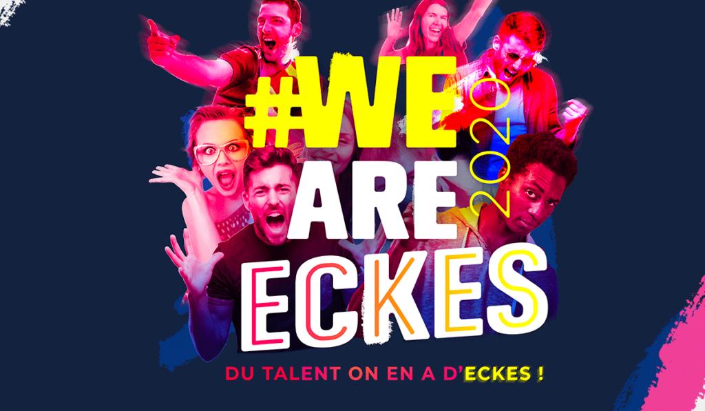 visuel d'entête de l'univers graphique de We Are Eckes, réalisé par Laurent Agier, en agence de communication