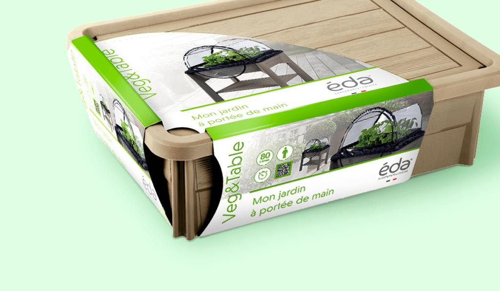 visuel d'entête d'un packaging réalisé pour EDA, par Laurent Agier, agence de communication à Toulon