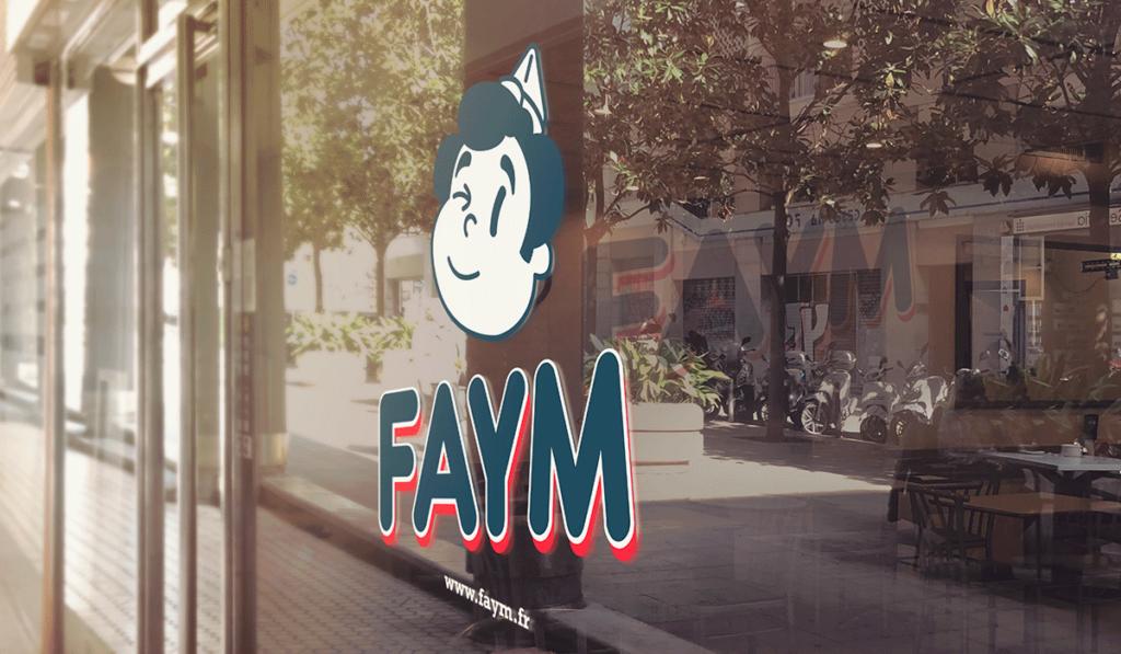 visuel d'entête de la vitrine de Faym réalisée par Laurent Agier, agence de communication à Toulon