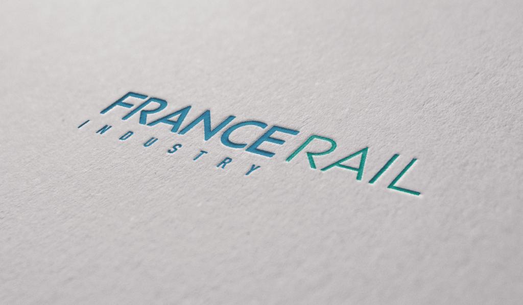 visuel d'entête pour création du logo de France Rail Industry, réalisée par Laurent Agier, agence de communication à Toulon