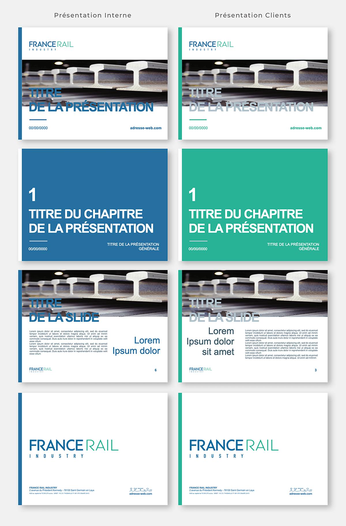 visuel de la présentation Powerpoint de France Rail Industry réalisée par Laurent Agier, agence de communication à Toulon