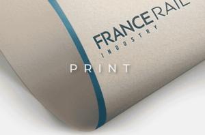 image mise en avant pour la création de l'identité de marque de France Rail Industry réalisée par Laurent Agier, agence de communication sur Toulon