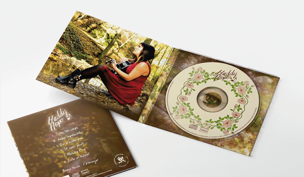 visuel de la pochette d'album de Haddy Hope, réalisée par Laurent Agier, agence de communication à Toulon