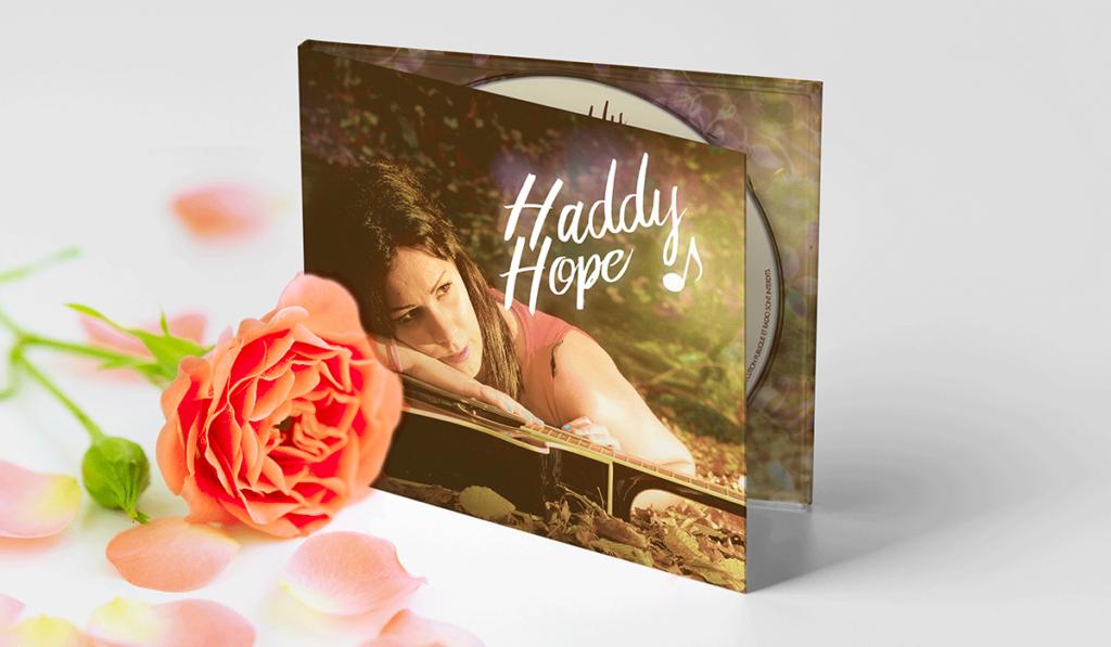 visuel d'entête pour la création de la pochette d'album d'Haddy Hope, réalisée par Laurent Agier, agence de communication à Toulon