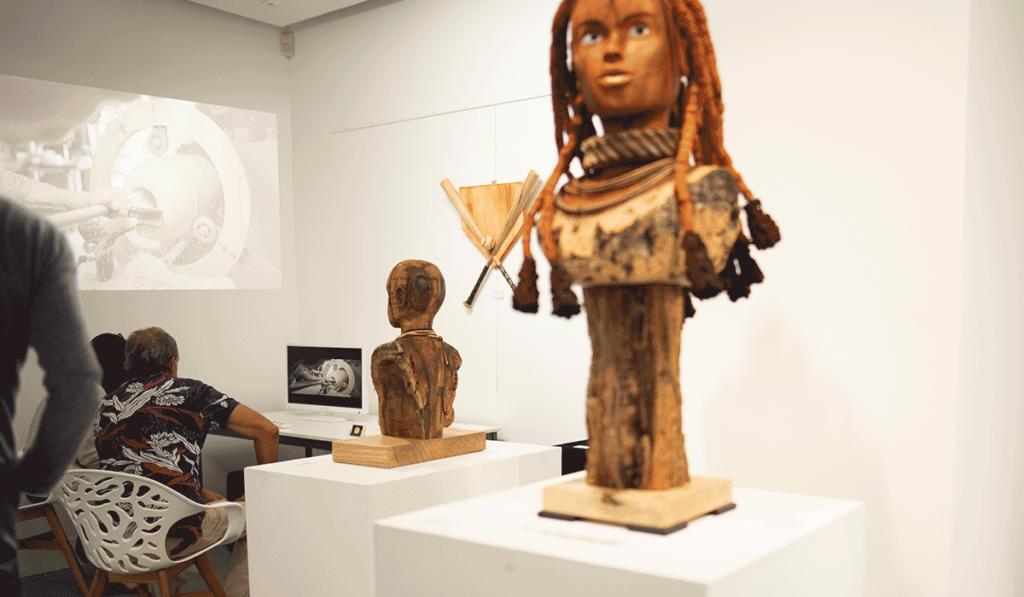 Photo de l'exposition de Ludovic Bourgeois, prise par Laurent Agier, agence de communication à Toulon