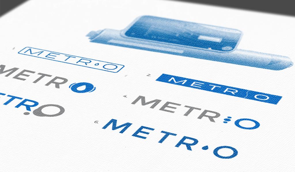 visuel des différentes propositions du logo pour Metr'o réalisées par Laurent Agier, agence de communication à Toulon ées par Laurent Agier, agence de communication à Toulon