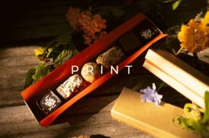 image mise en avant pour la création d'un étui de chocolats pour la marque Natura Mundi réalisée par Laurent Agier, agence de communication sur Toulon