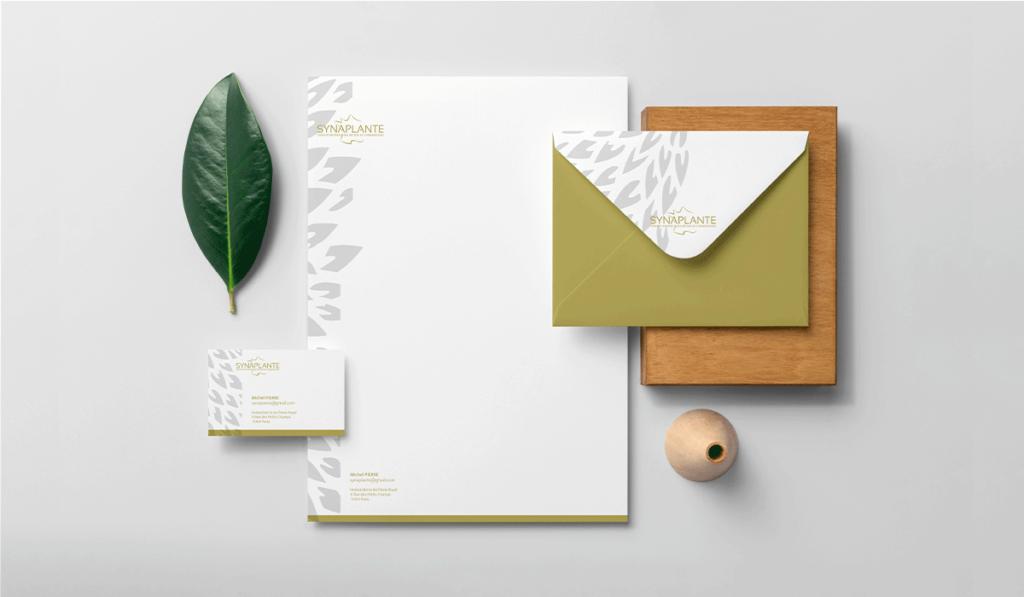 visuel des supports de communication réalisés pour le Synaplante, par Laurent Agier, agence de communication à Toulon