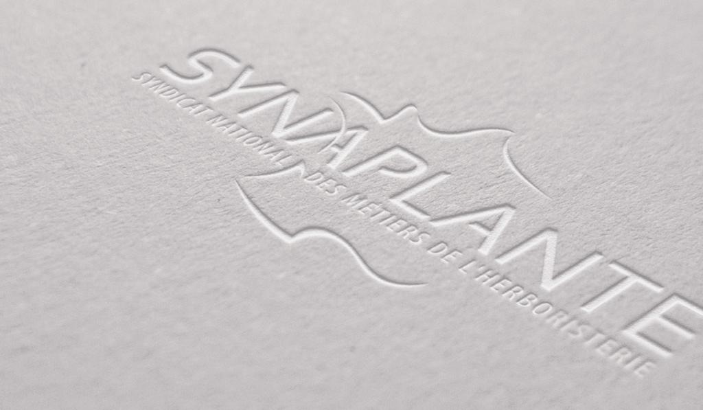 visuel d'entête pour la création du logo du Synaplante, réalisée par Laurent Agier, agence de communication à Toulon