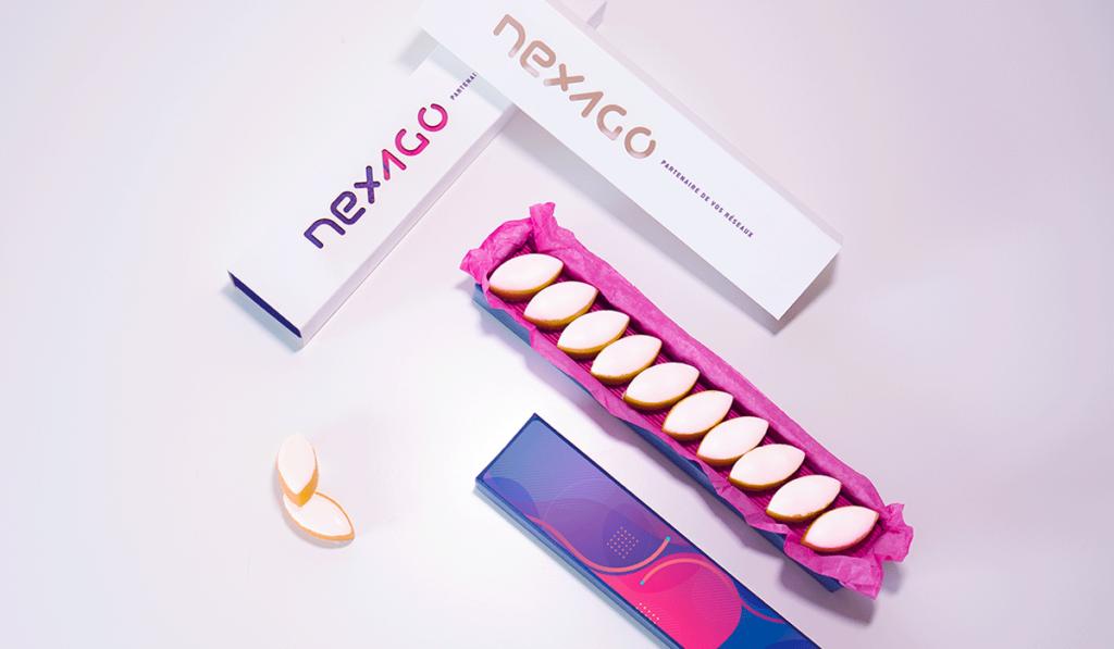 visuel d'entête pour la création de l'étui packaging de Nexago, réalisée par Laurent Agier, agence de communication à Toulon
