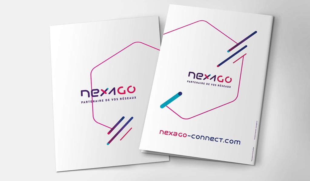 visuel d'entête pour la création graphique de la plaquette de Nexago, réalisée par Laurent Agier, agence de communication à Toulon