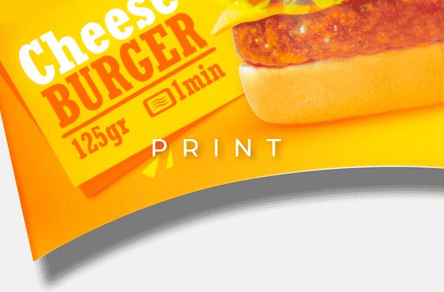 image mise en avant pour la création d'un packaging de burger Sodebo réalisée par Laurent Agier, en agence de communication