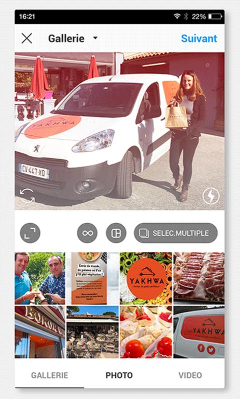 photo Instagram de la signalétique du véhicule de Yakhwa réalisée par Laurent Agier, agence de communication sur Toulon