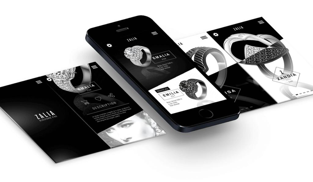 visuel d'entête du web design de l'application pour Zalia réalisé par Laurent Agier, agence de communication à Toulon