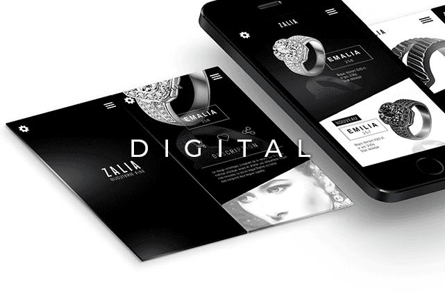 image mise en avant pour la création d'un web design pour un bijoutier réalisée par Laurent Agier, agence de communication sur Toulon