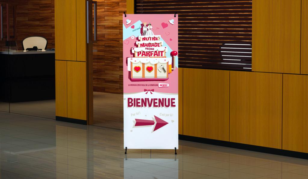 visuel du roll-up événementiel d'Am Artist réalisé par Laurent Agier, agence de communication à Toulon