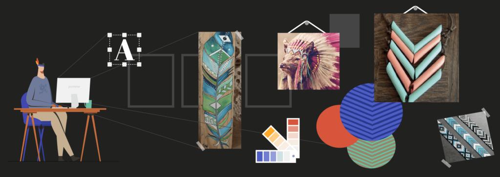 illustration de l'article «comment créer un logo professionnel» pour le moodboard, rédigé par Laurent Agier - agence de communication basée sur Toulon