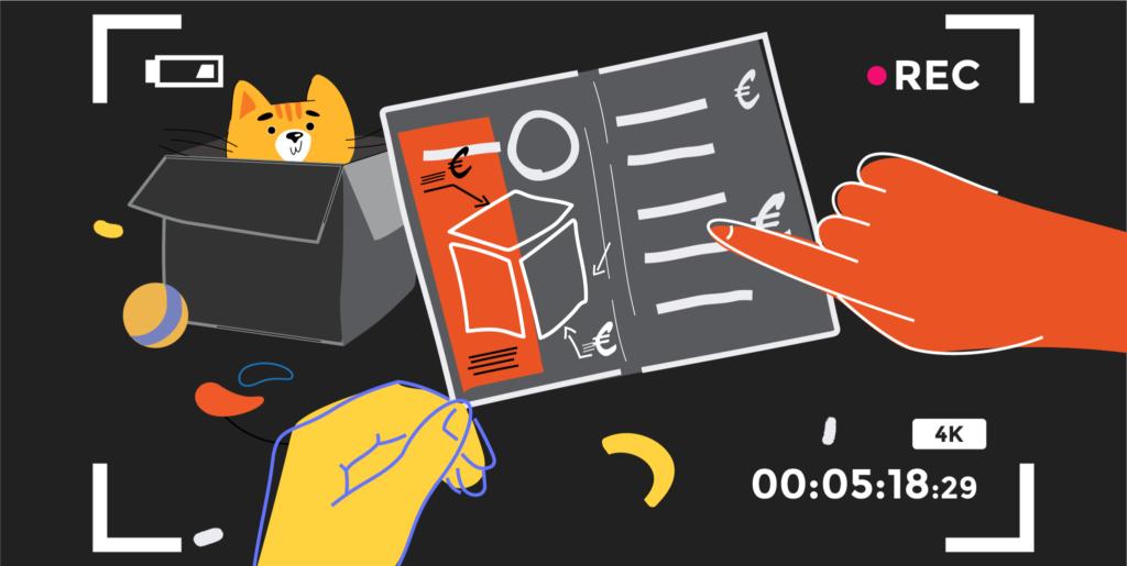 illustration de l'article «comment créer un film d'entreprise efficace» pour «votre processus commercial», rédigé par Laurent Agier - agence de communication basée sur Toulon