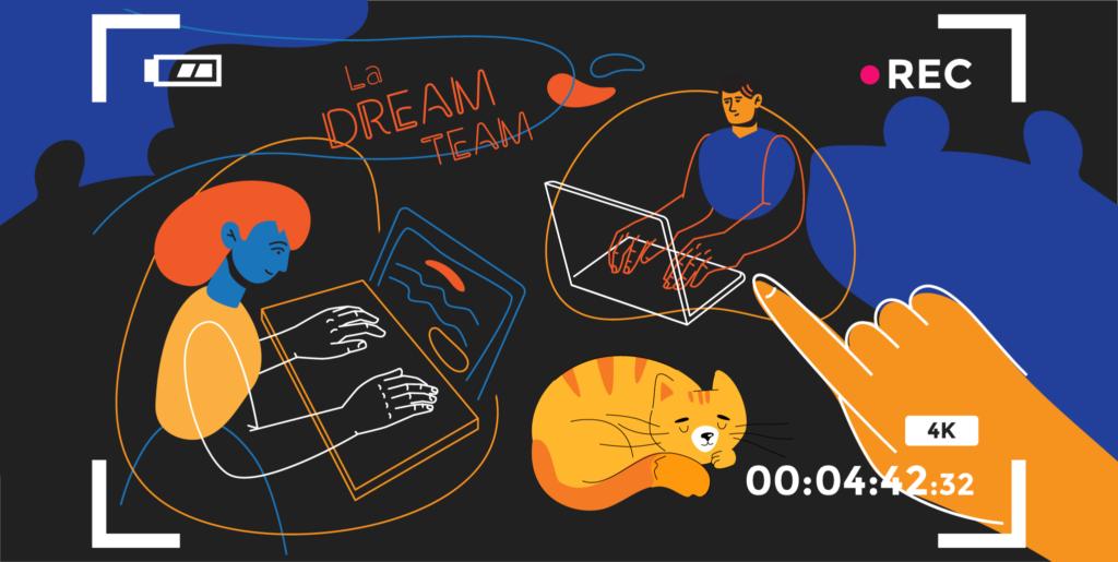 illustration de l'article «comment créer un film d'entreprise efficace» pour « parlez de votre équipe », rédigé par Laurent Agier - agence de communication basée sur Toulon